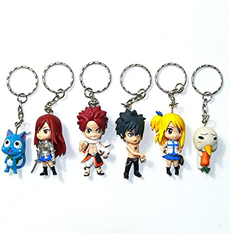 3,5 cm Fairy Tail Porte-clés Figurine 3D Happy