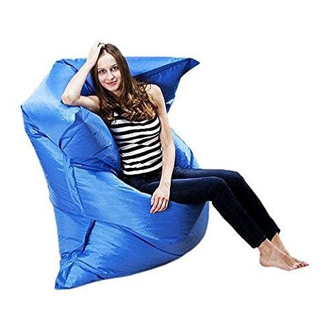 Dreamyth Giant Beanbag Cushion Pillow Indoor Outdoor Relax Gaming Gamer Bean Bag (Blue) (Backyard Beans)