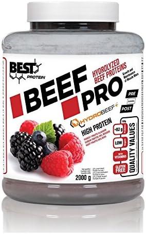 Best Protein Beef Pro Frutas del Bosque - 2000 gr: Amazon.es ...
