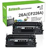 Aztech 2 Pack Compatible HP 26A CF226A MFP M426fdw Black Toner Cartridge Laserjet Pro M402dn M402n M402d M402dw, Laserjet Pro MFP M426dw M426fdw M426fdn, M402 M426 Series Printer