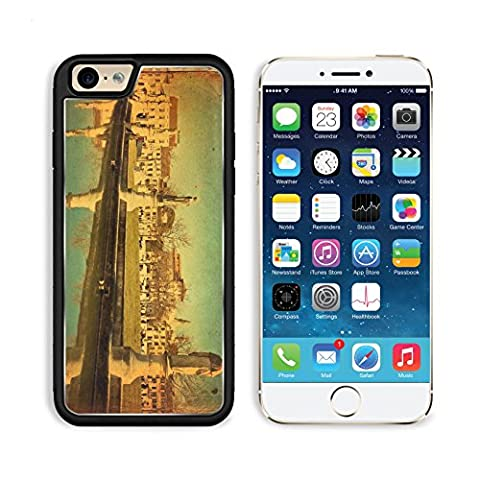 MSD Premium Apple iPhone 6 iPhone 6S Aluminum Backplate Bumper Snap Case iPhone6 IMAGE ID: 28057749 View of the canal with statues on Prato della Valle in Padova Veneto Italy Texture (Iphone6 Porch)