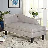 Grey Leena Storage Chaise Lounge
