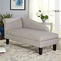 Grey Leena Storage Chaise Lounge