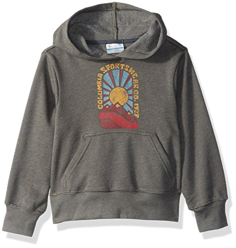 Columbia Boys' Little Kids Hoodie, Charcoal Heather, XX-Small