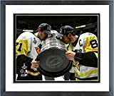 Evgeni Malkin Sidney Crosby Pittsburgh Penguins 2017 Stanley Cup Photo (Size: 12.5'' x 15.5'') Framed
