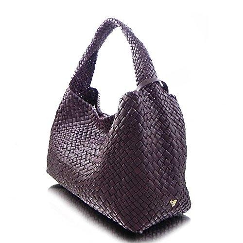 seau de bandoulière la sac main Violet en cuir luxe italien sac à Ghibli tissé à 8SxHqgR