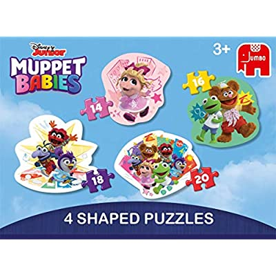 Jumbo 19759 Disney Muppet Babies-4 in 1 Shaped Puzzles, Multi: Toys & Games