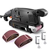 TACKLIFE Belt Sander 3 ×18-Inch with 13Pcs Sanding Belts, Bench Sander with Variable-speed Control, Fixed Screw Clamps, Dust Box, Vacuum Adapters, 10Feet(3M) Length Power Cord – PSFS1A For Sale