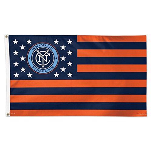 SOCCER New York City FC 11194115 Deluxe Flag, 3' x (New York Ny City Flag)