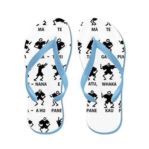 Cafepress Haka 16x16 - Flip Flops, Roliga Rem Sandaler, Strand Sandaler Caribbean Blue