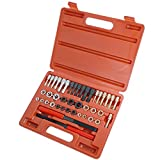 Ctool Universal 42Pcs Re Threading Tool Set Kit Metric Sizes UNF and UNC Fractional and Metric Thread Restorer Kit