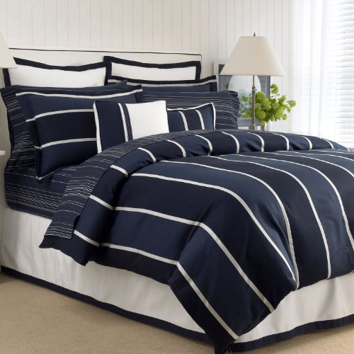 Nautica Henley Stripe Duvet Cover NavyTwin ()