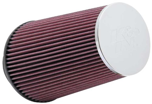 K&N RC-3690 High Performance Universal Clamp-on Chrome Air Filter