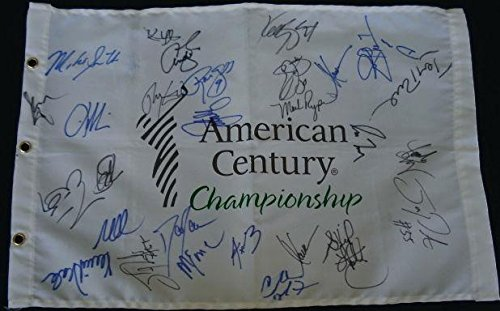 Lake Tahoe Celebrity Golf Autographed Flag (29 Signatures!) Autographed Golf Pin Flags