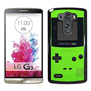 LG G3 Green Gameboy Black Screen Cellphone Case Unique and Fashion Design