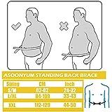 ASOONYUM Workout Back Braces Women Men Herniated