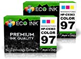 ECO INK © Compatible / Remanufactured for HP 97 C9363WN (2 Color) Ink Cartridges for HP PhotoSmart 2600, 335xi, 428, 8150xi, 2608, 337, 428v, 8157, 2610, 375, 428xi, 8158, 2610v, 375B, 475, 8450, 2610xi, 375v, 475v, 8450v, 2613, 375vi, 475xi, 8450w, 2700,