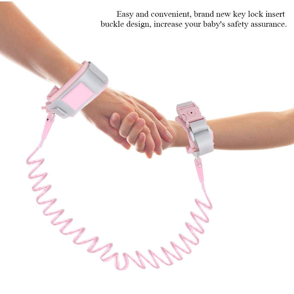 2M Baby Kids Toddler Anti Lost Wrist Harness Leash Wristband with Safety Key Lock for Outdoor Activities Shopping Blue Anti Lost Wrist Link