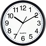 Bernhard Products Black Wall Clock, Large 13-Inch