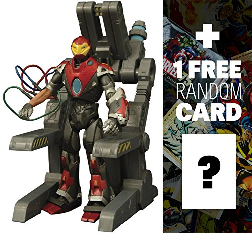 """Ultimate Iron Man: ~7"""" Marvel Select x Diamond Select Action Figure + 1 FREE Official Marvel Trading Card Bundle"""