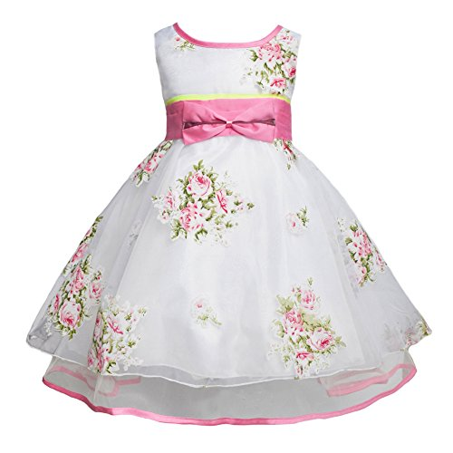 JiaDuo Big Girls Princess Casual Dress Sleeveless Flower Bow 120 (Cute Halloween Dress)