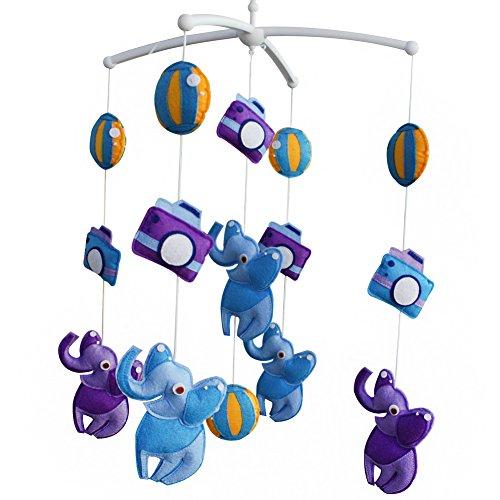 [Sightseeing, Circus Show] Creative Decor, Baby Toys, Rotatable Crib Mobile