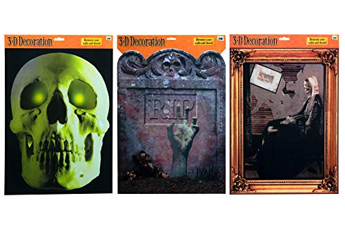 Halloween Decor Wall Art - Set of 3 - 16.5