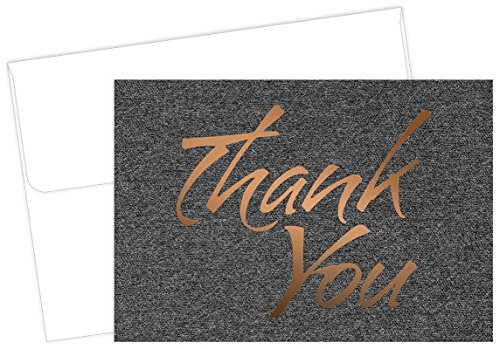 Suit Thank You Note Cards - 50 Cards & (Graduation Thank You Notes)