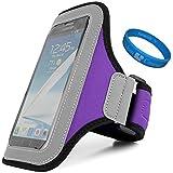Premium Workout Armband Case for Vivo X5Max Platinum Edition / Vivo X5Pro / Vivo X5 Max V / Vivo X5 Max+ / Vivo X5 Max + SumacLife TM Wristband (Purple)
