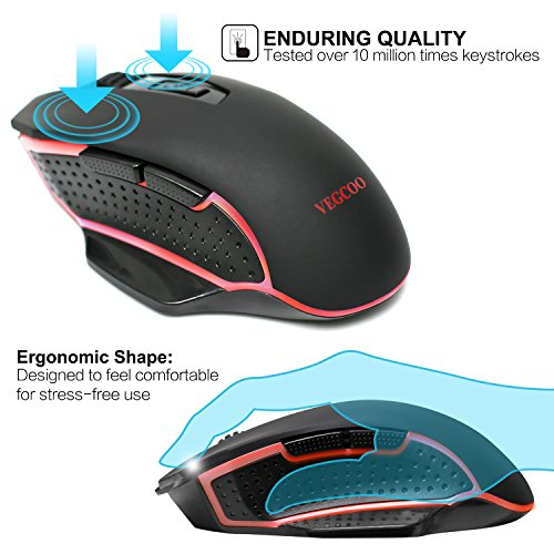 51QGWNM%2Bn1L - VEGCOO-C7-Wireless-Gaming-Mouse-Silent-Click-Mouse-With-Adjustable-2400DPI-7-Buttons-for-Computer-Laptop-Macbook