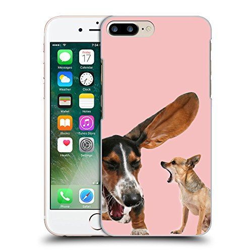 GoGoMobile Coque de Protection TPU Silicone Case pour // Q05600610 Basset chihuahua baby Pink // Apple iPhone 7 PLUS