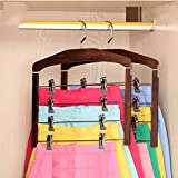 Ymj Clothes Racks Solid Wood Hangers Seamless Anti - Skid Trousers Racks (one Cloths Rack) (Color : 2)