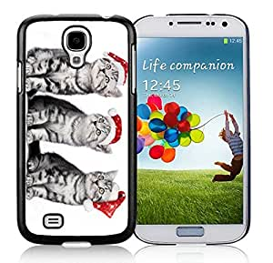 Provide Personalized Customized Samsung S4 TPU Protective Skin Cover Christmas Cat Black Samsung Galaxy S4 i9500 Case 30