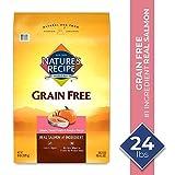 Nature's Recipe Grain Free Easy To Digest Dry Dog Food, Salmon, Sweet Potato & Pumpkin Recipe, 24 lb