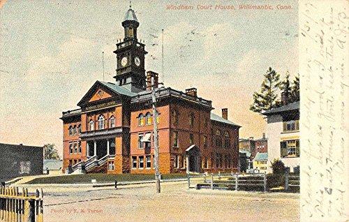Willimantic Connecticut Windham Court House Street View Antique Postcard ()