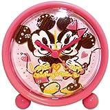 Disney 目覚まし時計 ラウンドアラームクロック アナログ表示 ミッキーマウス&ミニーマウス 734375