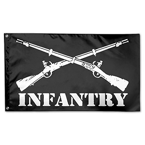 JUMEOW Army Infantry Branch Insignia Outdoor Banner 3' X 5' For Advertising/Banner/Outdoor/Indoor/Activities/Home/Anniversary/Party/Decor/Holiday/Seasonal, Etc.