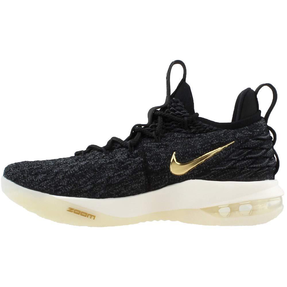 52e30e2b7314c NIKE Men's Lebron 15 Low Basketball Shoes (10, Black/Gold)