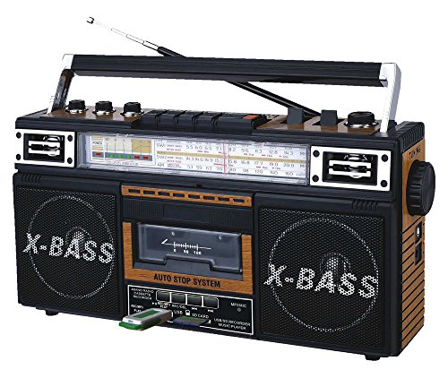 Price comparison product image QFX J-22UWD ReRun X Radio and Cassette to MP3 Converter - Wood