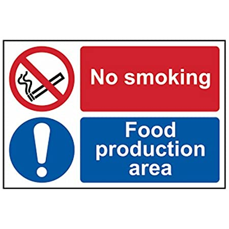 WARNING DO NOT SMOKE Sign Self Adhesive Removable Vinyl Sticker 2 x