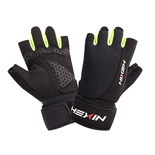 HEXIN Weight Lifting Gloves With 17