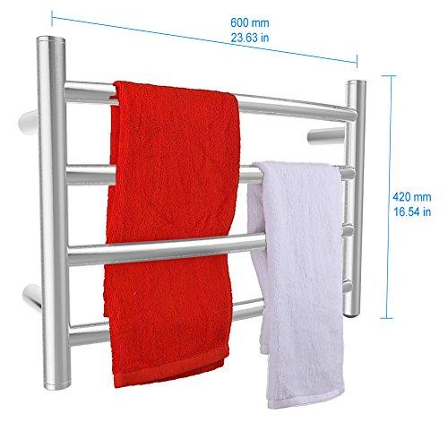 [해외]SHARNDY 전기 수건 따뜻한 곡선 커브 수건 바 ETW29 브러쉬 된 니켈/SHARNDY Electric Towel Warmer Curve Towel Bars ETW29 Brushed Nickel