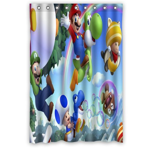 ScottShop Custom Super Mario Shower Curtain Decoration High Quality Waterproof Polyester Fabric Bathroom Shower Curtains 48