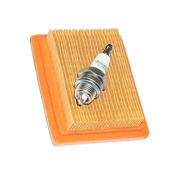 SGerste - Kit de Filtro de Aire para bujías Stihl FS120 FS200 FS250 FS300 FS310 FS350 FS400 FS450 FS480 escobilla BT120 BT121 FR350 FR450: Amazon.es: Jardín