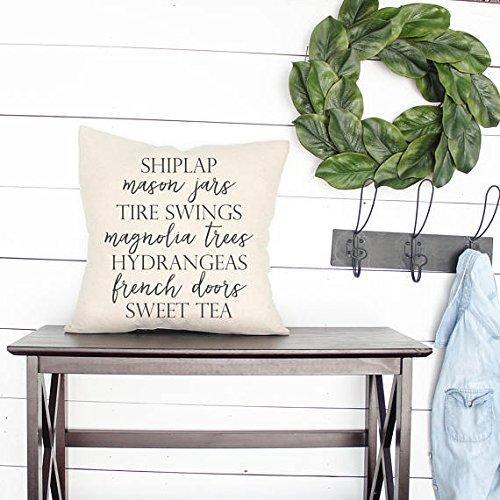 Yohoba Shiplap Farmhouse Words Farmhouse Pillowcases...