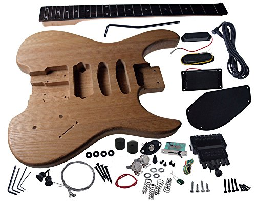 Solo SB Style DIY Guitar Kit, Ash Body, Headless Maple Neck