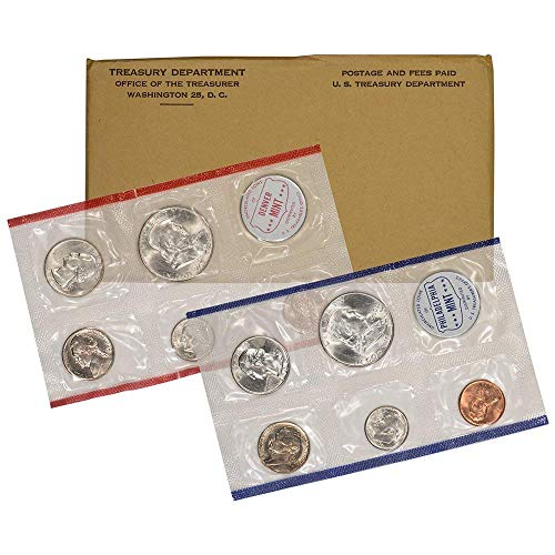 Morgan Coin Set - 1960 US Mint 10-Coin Uncirculated Silver P&D Mint Coin Set in OGP BU