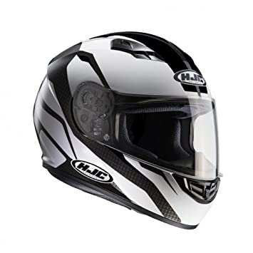 HJC 101405 X S Casco Moto, Color blanco/negro, XS
