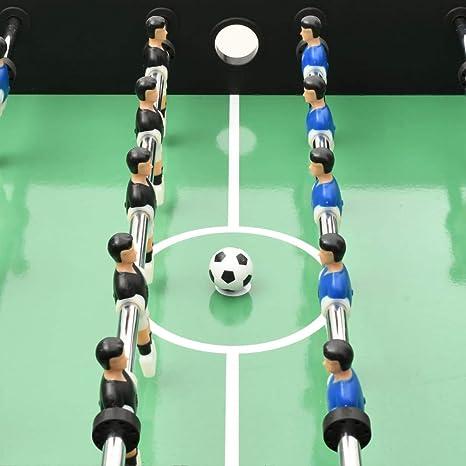 Festnight Juego de Mesa de Fútbol Futbolin Futbolín Color Negro de ...