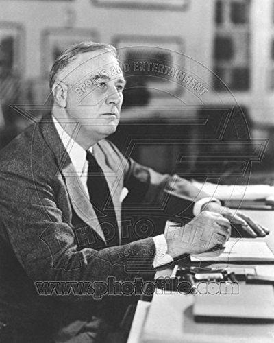 Delano Large Fan - President Franklin Delano Roosevelt sits at his desk 1941 Photo 8 x 10in